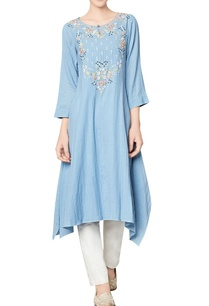 blue-cotton-georgette-tunic