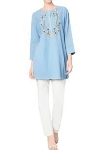 blue-cotton-georgette-top