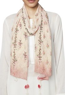 peach-bamberg-georgette-scarf