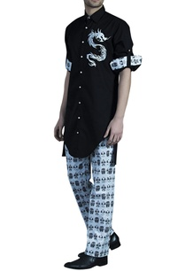 ivory-cotton-japanese-mask-printed-pants