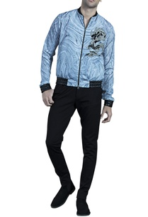 black-grey-marble-printed-bomber-jacket
