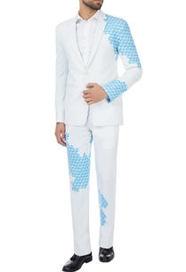 white-blue-placement-printed-blazer-trousers