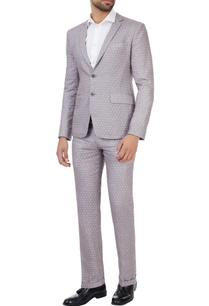 grey-printed-linen-suit
