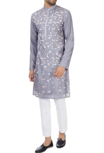 grey-geometric-printed-long-silk-kurta