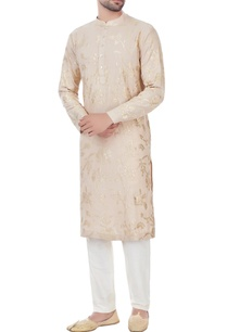 beige-gota-embroidered-kurta-with-unstitched-pyjama-fabric