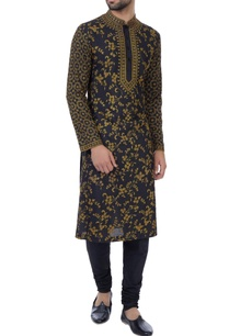 black-embroidered-kurta-with-chudidar