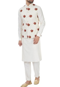 ivory-rose-motif-embroidered-nehru-jacket