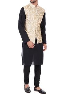 ivory-poly-silk-multi-design-nehru-jacket