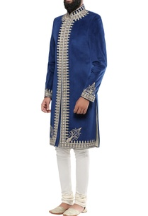 blue-velvet-kala-battu-embroidery-sherwani-with-churidar