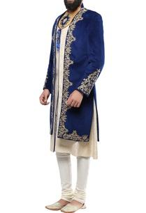 turquoise-blue-velvet-multi-button-jodhpuri-jacket