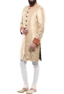 gold-herringbone-fabric-zari-zardozi-work-sherwani-with-churidar
