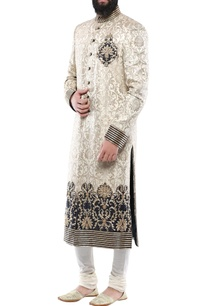 gold-brocade-hand-embroidered-sherwani-with-churidar