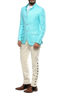 light-blue-matka-silk-convertible-collar-jacket