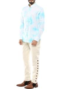 blue-linen-streak-printed-shirt