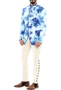 dark-blue-marble-print-jodhpuri-jacket