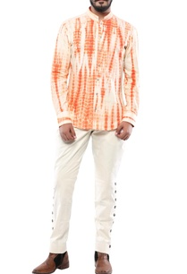 orange-linen-streax-shirt
