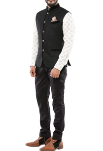 black-linen-nehru-jacket