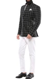 black-linen-chequered-jodhpuri-jacket