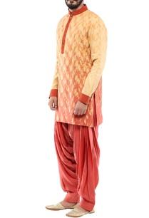 beige-linen-printed-short-kurta