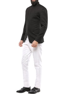 black-dobby-jodhpuri-jacket