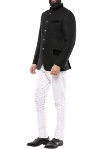 black-matka-silk-jodhpuri-jacket-with-velvet-detailing