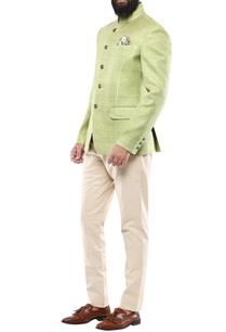 lime-green-matka-silk-jodhpuri-jacket