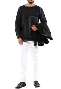 black-cotton-shirt-with-white-detailing