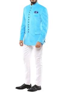 turquoise-blue-velvet-jodhpuri-jacket