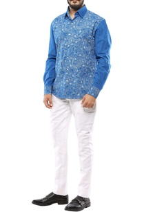 blue-cotton-floral-printed-shirt