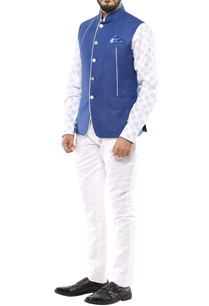 blue-linen-nehru-jacket