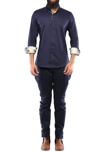 navy-blue-cotton-pants-with-decorative-side-buttons