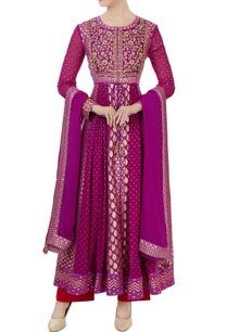 purple-georgette-chanderi-brocade-anarkali-set