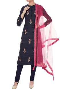 black-raw-silk-zardozi-embroidered-kurta-set
