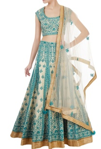blue-gold-brocade-thread-embroidered-lehenga-set