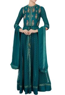 teal-green-handloom-silk-zardozi-embroidered-anarkali-set