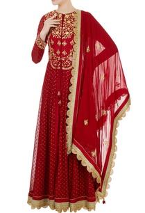 maroon-georgette-silk-dori-embroidered-anarkali-set