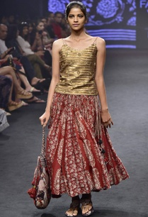 red-gold-chanderi-silk-printed-skirt-with-strappy-camisole
