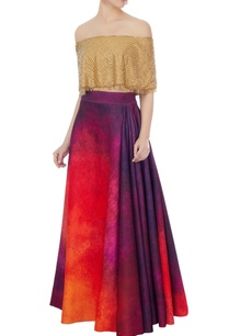 gold-hand-embroidered-bead-cape-with-neoprene-flared-lehenga