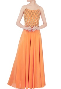 orange-crepe-silk-tassel-crop-top-with-palazzos