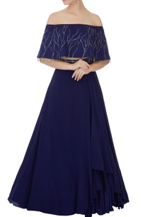 midnight-blue-crepe-silk-lehenga-set
