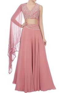 rose-pink-crepe-lehenga-set