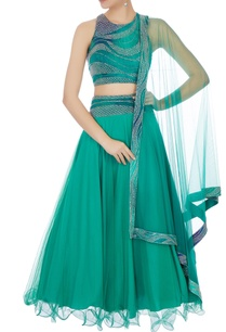 emerald-green-wave-embroidered-lehenga-set