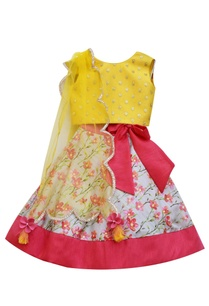 mustard-yellow-sequence-choli-with-printed-lehenga-and-dupatta