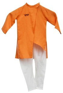 orange-kurta-with-churidar