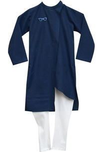 dark-blue-kurta-with-white-churidar