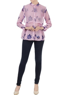 lilac-pink-cotton-silk-leaf-print-shirt-with-organza-detail