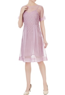 lilac-pink-silk-embroidered-dress