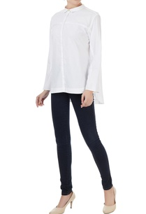 white-cotton-solid-shirt-with-side-zipper