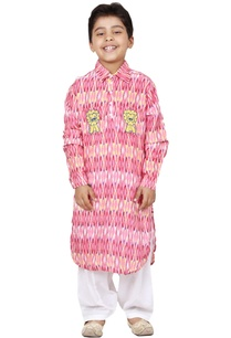 pink-cotton-batik-printed-kurta-set