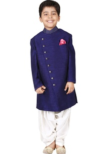 navy-blue-raw-silk-solid-sherwani-set